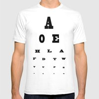 Eye Test Mens Fitted Tee White SMALL