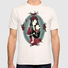 Skeleton Mother & Child - Dia de los Muertos Mens Fitted Tee SMALL Natural