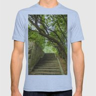 Old Stairways Mens Fitted Tee Athletic Blue SMALL