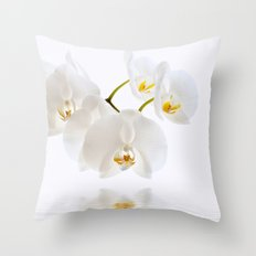 Orchid White 107 Throw Pillow