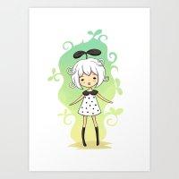 Bean Girl Art Print