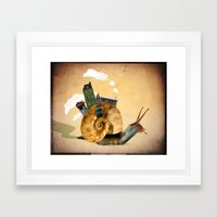 A Tiny Community Framed Art Print