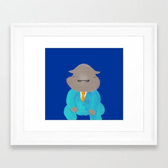 Napping Mr.Hippo Framed Art Print