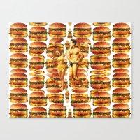 Hamburger Beach Canvas Print