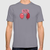 Kidney Makes The Pass Mens Fitted Tee Slate SMALL