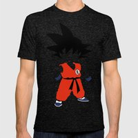 Goku Mens Fitted Tee Tri-Black SMALL