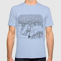 Kick-sledding Fox Mens Fitted Tee Athletic Blue SMALL