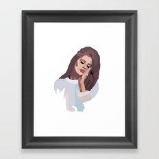 Miss Lana 60s Style Framed Art Print
