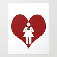 T-Shirt I Love Photography  (Girl) Art Print