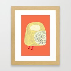 Cute Owl. owl art, owl illustration, owl print, owl decor, nature,  Framed Art Print