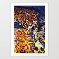 The Old Jaguar Gazed Gre… Art Print