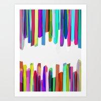 Colorful Stripes 3 Art Print