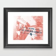 Framed Art Print featuring Nevada by Katie Lee
