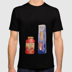 Saucy Friendship SMALL Mens Fitted Tee Black