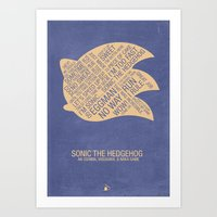 Sonic The Hedgehog Typog… Art Print