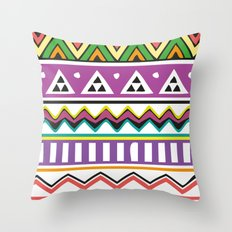 Colouful Aztec Throw Pillow