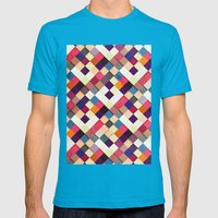 Pass This On II Mens Fitted Tee Teal SMALL