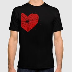 Heart shot SMALL Black Mens Fitted Tee