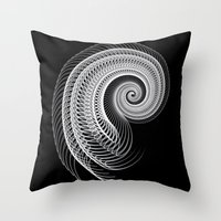 Black And White Skeletal… Throw Pillow