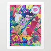 Color Eruption Art Print