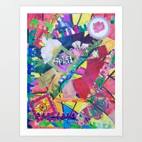 Color Eruption Art Print