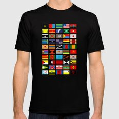 SH as flags Mens Fitted Tee Black SMALL