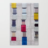 eastern european apartments in colour Canvas Print