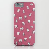 Indian Baby Elephants in Pink iPhone 6 Slim Case