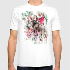 Watercolor Elephant And … Mens Fitted Tee White SMALL