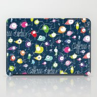 iPad Case featuring Caffeine Birdies by Anchobee