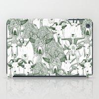 Just Goats Dark Green iPad Case