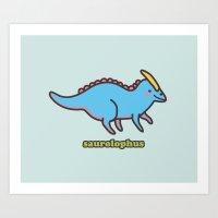 Saurolophus Art Print