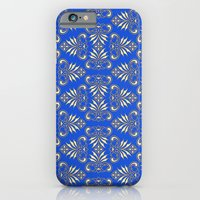 Royal Blue Pattern iPhone 6 Slim Case