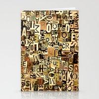 alphabet Stationery Cards featuring Alphabet by Kerri Swayze