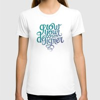 Grow Your Own Designer Womens Fitted Tee White SMALL