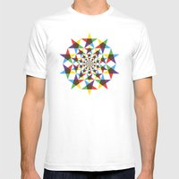 Star Space Mens Fitted Tee White SMALL