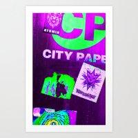 City Paper. Art Print
