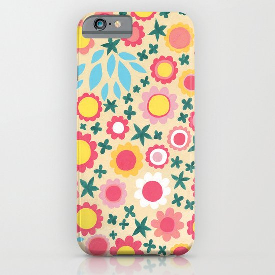 Crowded Colourful Flowers iPhone & iPod Case