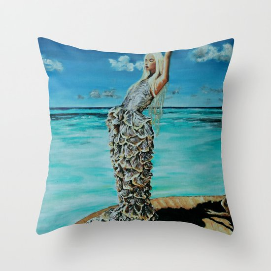 THE MCQUEEN MERMAID Throw Pillow