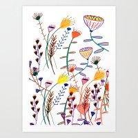 Flowers - Floral - Flowe… Art Print