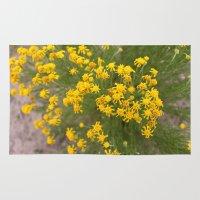 Yellow Wild Flowers Rug