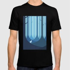 Blue forest SMALL Black Mens Fitted Tee
