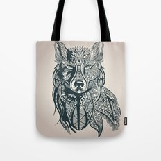 Vintage Sketch Wolf Tote Bag