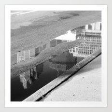 Downtown Reflection Art Print