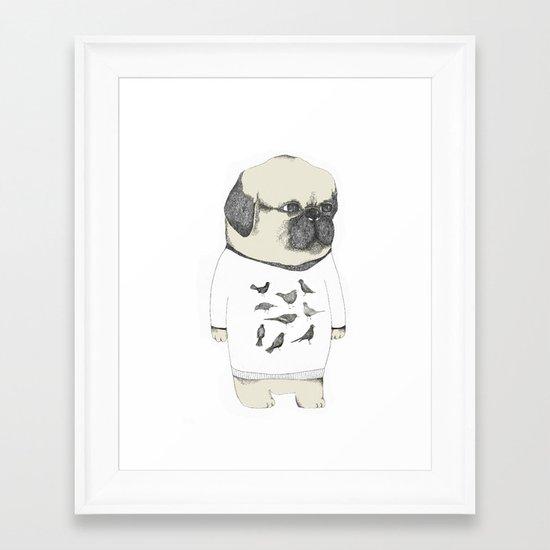 kinotto pug Framed Art Print