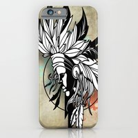 iPhone & iPod Case featuring Native Girl Design by The Art of Lefty