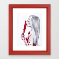 A Taste of Red Framed Art Print