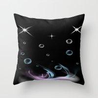 Bubbles in Cambria Throw Pillow
