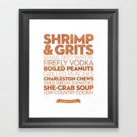 Charleston — Delicious… Framed Art Print