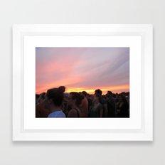 love like a sunset Framed Art Print
